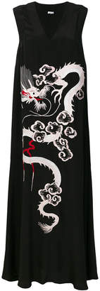 P.A.R.O.S.H. embroidered dragon maxi dress