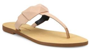 Rebecca Minkoff Eloise Leather Thong Sandals $58 thestylecure.com