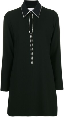 Victoria Victoria Beckham studded keyhole shirt dress