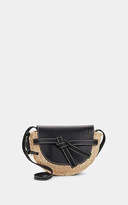 1641d0fbb9d4 Loewe Women's Gate Mini Leather & Straw Shoulder Bag - Black