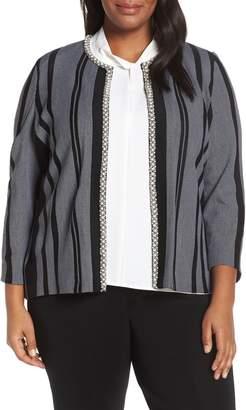 Ming Wang Embellished Knit Jacket