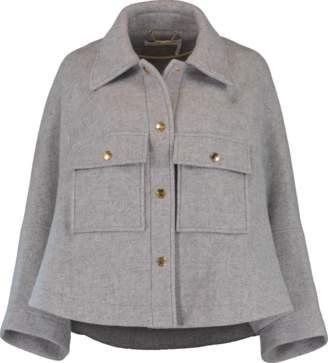 Chloé Wool Capelet Jacket