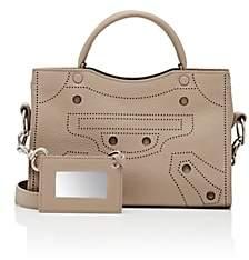 Balenciaga Women's Blackout City Extra-Small Leather Bag - Gray