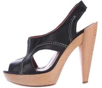Lanvin Slingback Platform Sandals