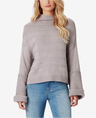 Jessica Simpson Juniors' Connie Ribbed Cuffed Sweater