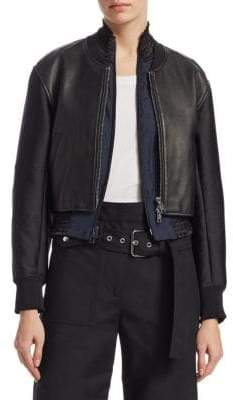 3.1 Phillip Lim 2-in-1 Leather Zip-Front Jacket