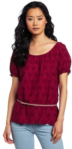 Lucky Brand Women's Taylor Eyelet Top