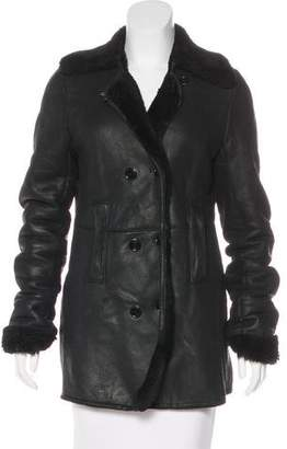 Joseph Leather & Shearling Coat