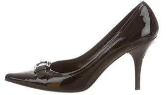 Fendi Patent Leather Logo Pumps