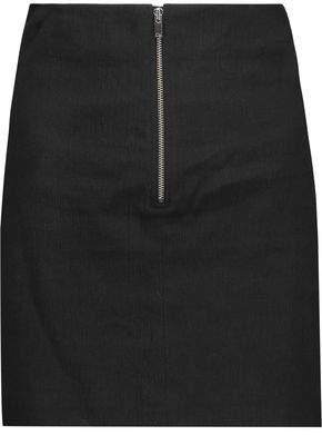 Isabel Marant Loria Linen-Blend Mini Skirt