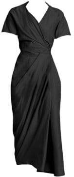 Rick Owens Women's Limi Silk Georgette Wrap Dress - Black - Size 44 (8)