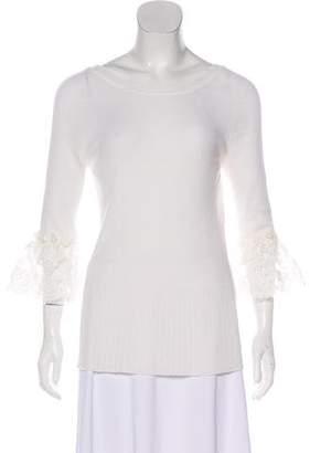 Oscar de la Renta Long Sleeve Wool Top w/ Tags
