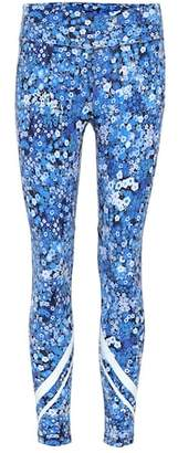 Tory Sport Chevron floral printed leggings