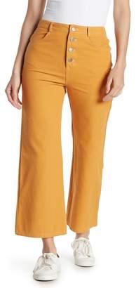 Wild Honey Button High Waist Flared Pants