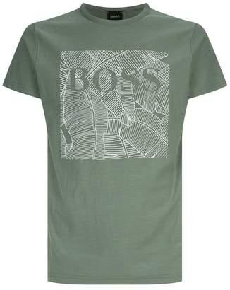 BOSS ORANGE Palm Logo Printed T-Shirt