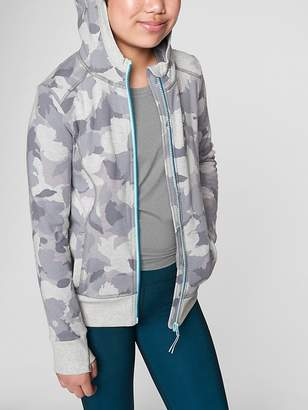 Athleta Girl Printed Hood Intentions Jacket