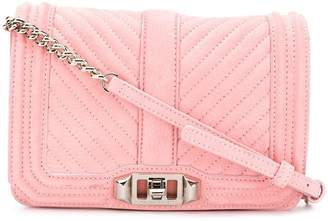 Rebecca Minkoff chevron-quilted small Love crossbody