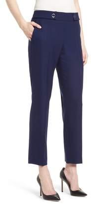 BOSS Tibalena Textured Stretch Wool Suit Pants