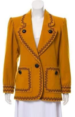 Saint Laurent Wool Embroidered Blazer