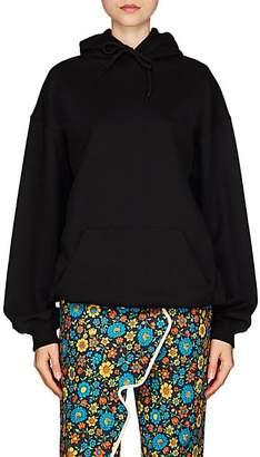 Balenciaga Women's Logo-Back Cotton Terry Oversized Hoodie - Black