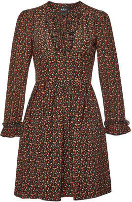 A.P.C. Mae Printed Silk Dress