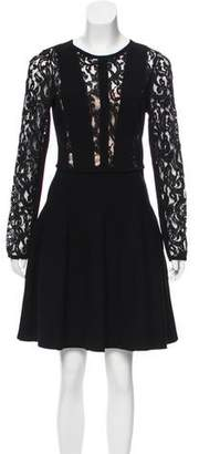 Blumarine Lace-Accented Silk Dress w/ Tags
