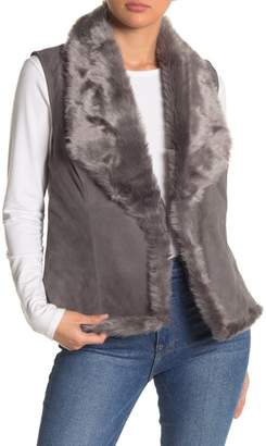 Michael Stars Goat Suede Faux Fur Reversible Vest