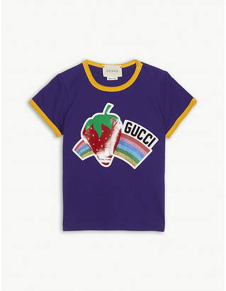 Gucci Strawberry rainbow cotton T-shirt 6-36 months