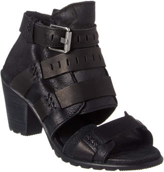 Sorel Nadia Leather Buckle Bootie