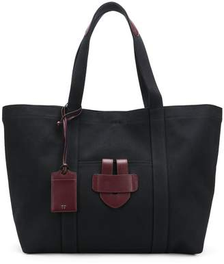 Tila March leather trim tote