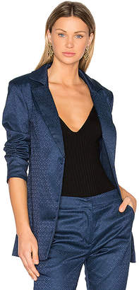 House of Harlow 1960 x REVOLVE Jean Blazer in Blue $210 thestylecure.com