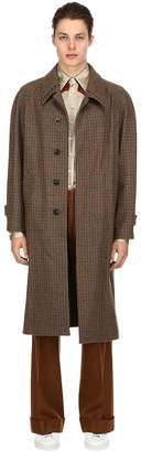 Maison Margiela Unlined Houndstooth Wool Felt Coat