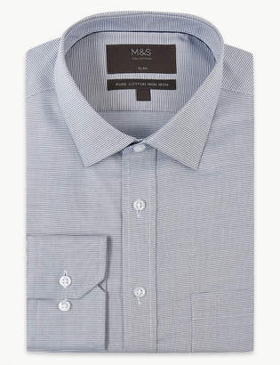 Marks and Spencer Pure Cotton Slim Fit Non-Iron Shirt