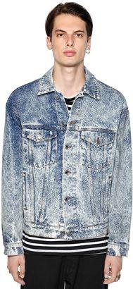 Acid Wash Effect Cotton Denim Jacket $375 thestylecure.com