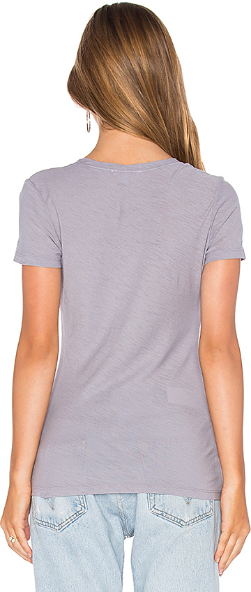 James Perse Casual V Neck Tee with Reverse Binding