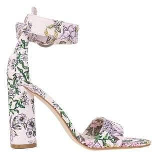 GUESS Floral Print Aviva Ankle-Strap Sandals