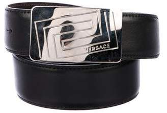 Versace Leather Buckle Belt
