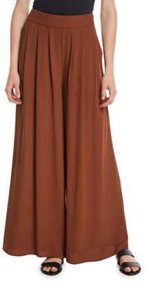 Eileen Fisher Silk Georgette Wide-Leg Pants, Petite