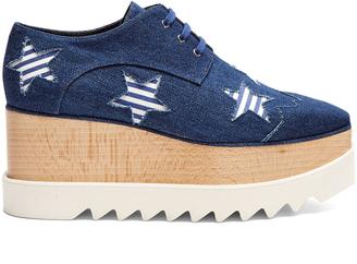 STELLA MCCARTNEY Elyse lace-up platform shoes $650 thestylecure.com