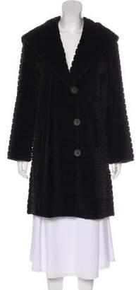 Couture Bisang Horizontal Mink Coat