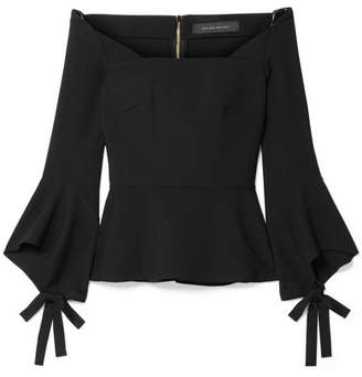 Roland Mouret Holden Off-the-shoulder Stretch-crepe Top - Black