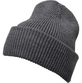 French Connection Mens Plain Knit Beanie Charcoal ab8123a81e3c