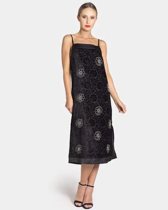 The Burnt Out Velvet Beaded Dress