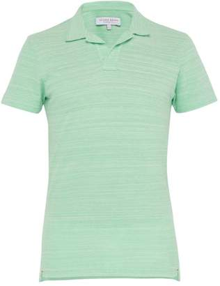 Orlebar Brown Felix Cotton Pique Polo Shirt - Mens - Green
