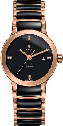 Rado R30183712 Centrix rose gold and black ceramic watch