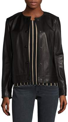 Helmut Lang Snap Button Leather Jacket