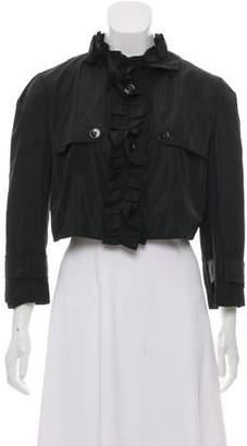 Dolce & Gabbana Ruffle Cropped Bolero Jacket w/ Tags