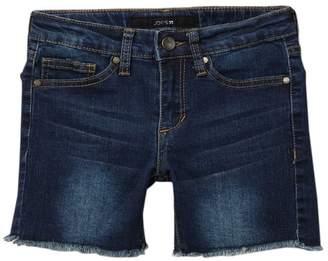 Joe's Jeans Frayed Mid Rise Bermuda Denim Shorts (Big Girls)