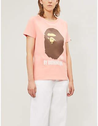 Selfridges Bape Logo-print cotton-jersey T-shirt
