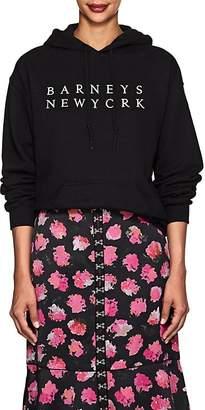 Barneys New York Women's Logo Cotton-Blend Fleece Hoodie